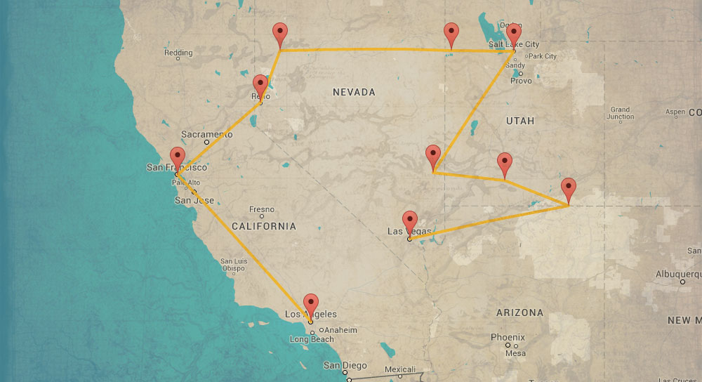 Great Road Trips In North America Free Travel Guides - Road trip map western us